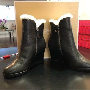 Michael Kors White Wedge Boots